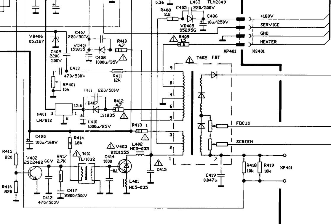 给你西湖ce2189彩电的行变部分图纸,照其引脚功能去买一只高压包吧