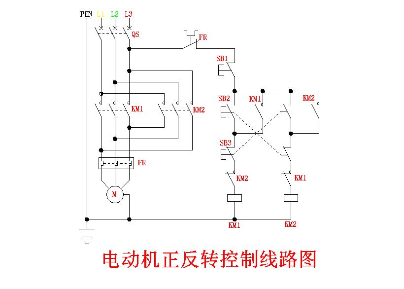 三相异步电动机的正反转控制接线图