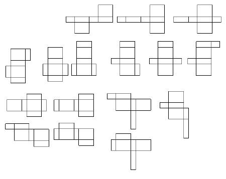 长方体展开图有多少种,大神来啊