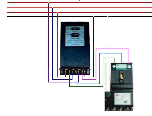 直读式三相四相智能电表接线图