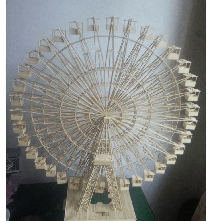 筷子制作摩天轮图纸教程急需,请朋友们多帮忙
