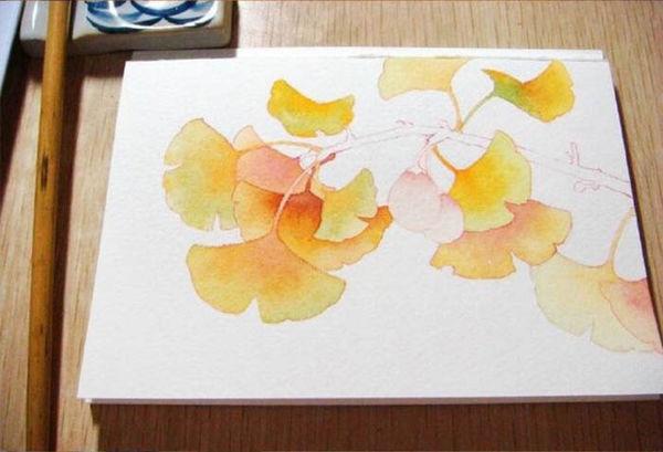银杏树叶图怎么画
