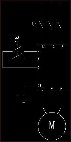 1.接线: 西门子mm440变频器调整电机转向接线图 2.