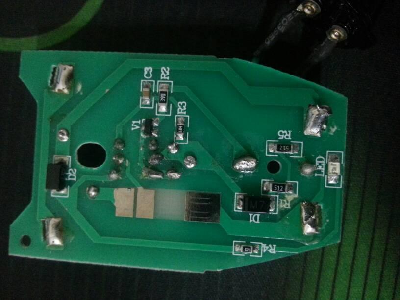 这个是飞科剃须刀fs325.的电路板,充电不亮,无法充电
