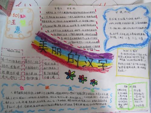 我爱汉字的手抄报,怎么写?