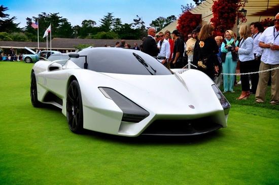 谁有超级跑车ssc ultimate aero ii露天车展的图片,就