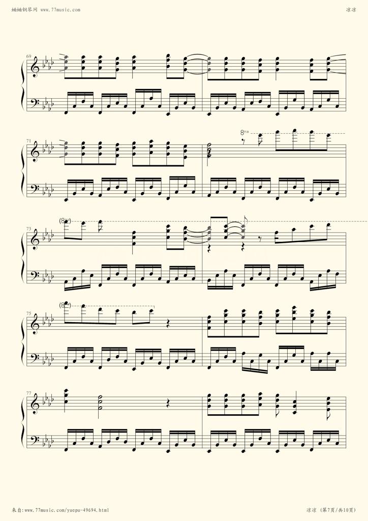 追答   凉凉的歌谱3 《凉凉》葫芦丝简谱717 凉凉的葫芦丝歌谱1
