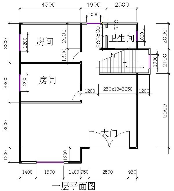 100平海景房设计图
