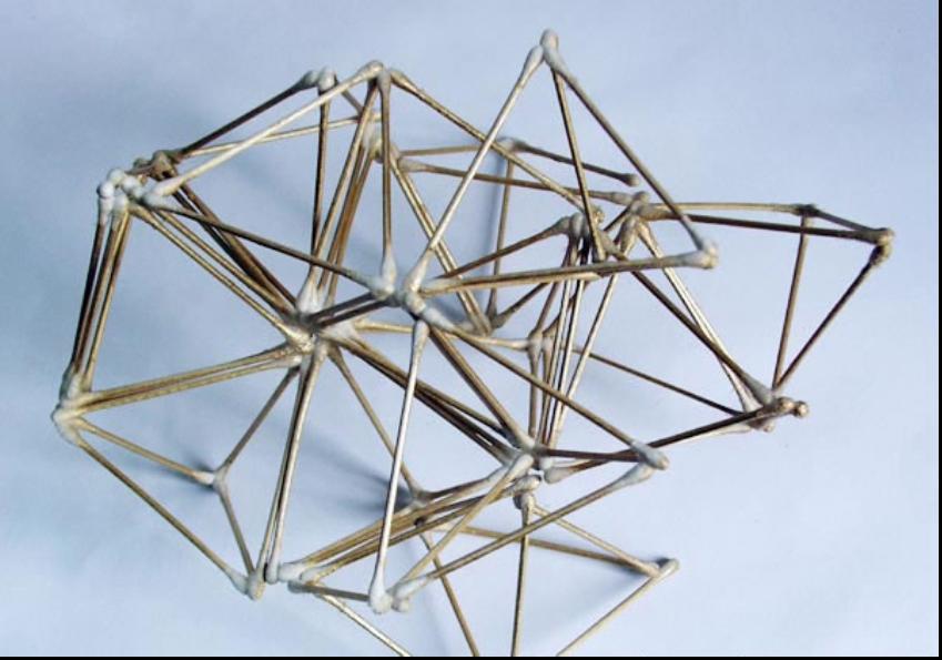 用筷子怎样做立体构成?