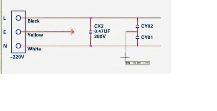 cx2 是电容 在这个电路图里,cx2的电容一头接火线,一头接零线,为什么