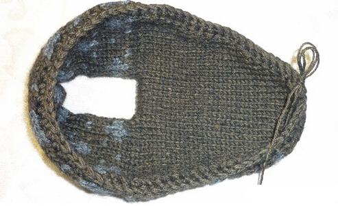 棒针编织毛线棉鞋怎么织啊!37码的鞋底!