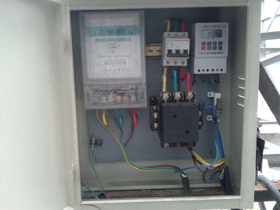 定时器,空开,断电器,配电箱接线图