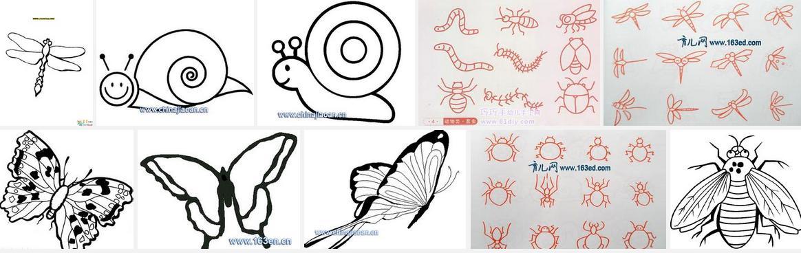 小朋友如何画昆虫