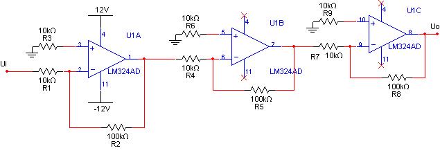 放大1000倍的放大电路怎么搭?用lm324或lm358或lm339