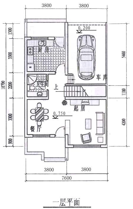 求80平米,宽10米,长8米,自建3层房屋设计图.