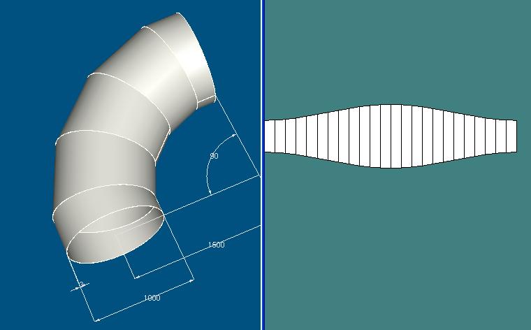 免费的网上下载,如你提供管道直径(确定内外径),材料厚度,弯曲半径我