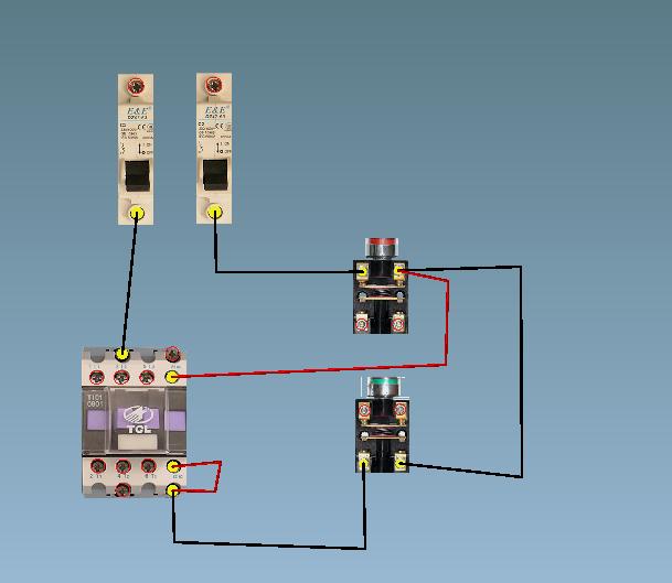 你是3210接触器是四路常开端的 ,如果你要用自锁就要换3201的接触器