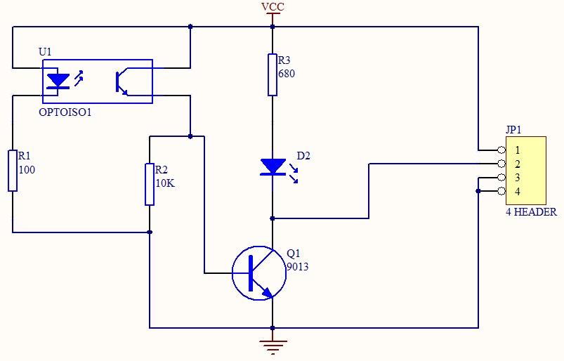 三极管9013作为开关作用时电阻值选择