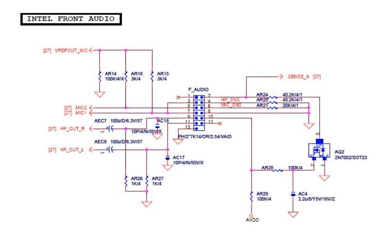联想主板13针前置音频如何屏蔽?才能使后面板发出声音