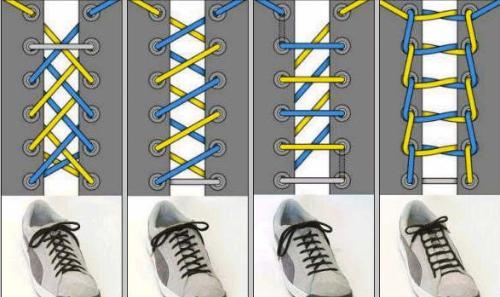 怎样系小白鞋带好看图解