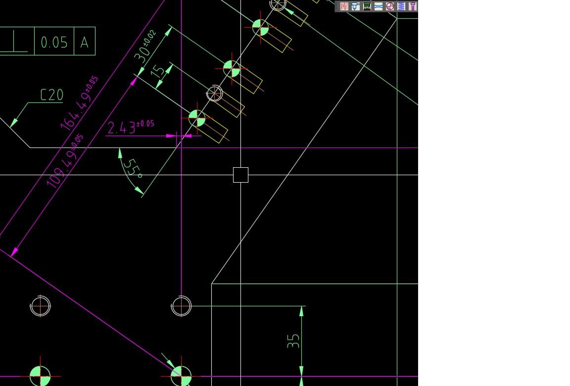 CAD标注时基准和面是斜的标注钩子cad下载图纸图片