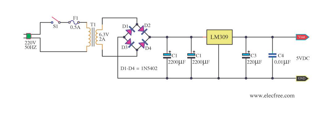 设计直流稳压电源电路图具体要求:设计一个实用的稳压
