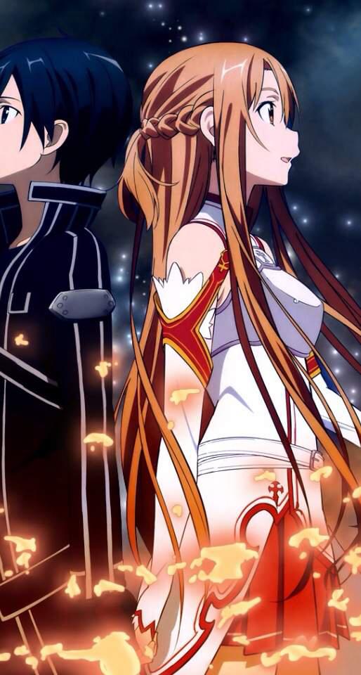 求刀剑神域第一季,桐人和亚丝娜的各种高清图片,谢谢了,越多越好!