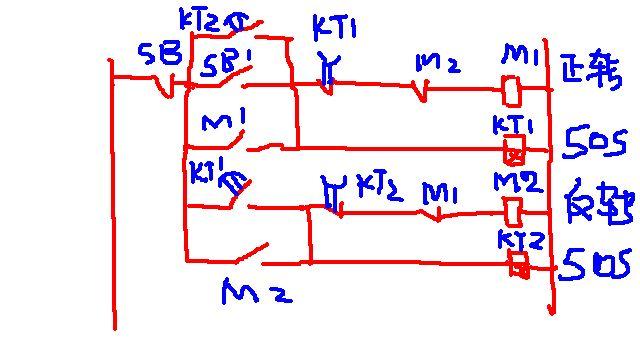电动机 自动 正反转控制电路