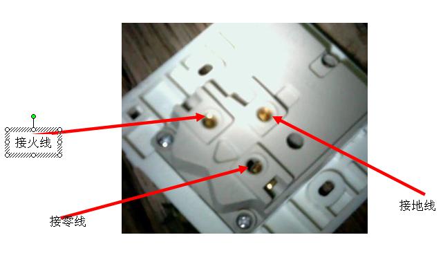 即可(一般面对插座面板左零右火上接地),七孔墙插面板接线如下图所示