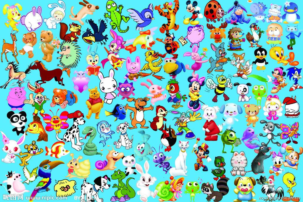 求一张各种可爱动物总动员的壁纸,小图如下求大图