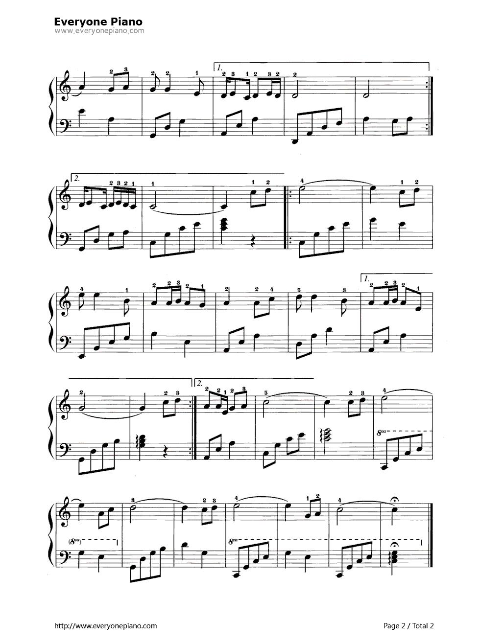 爱的奉献左手钢琴配弹光伏教学课件v左手图片