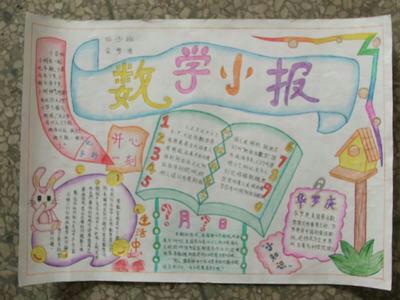数学手抄报,关于良好的学习习惯.横版.题目也带上.图片