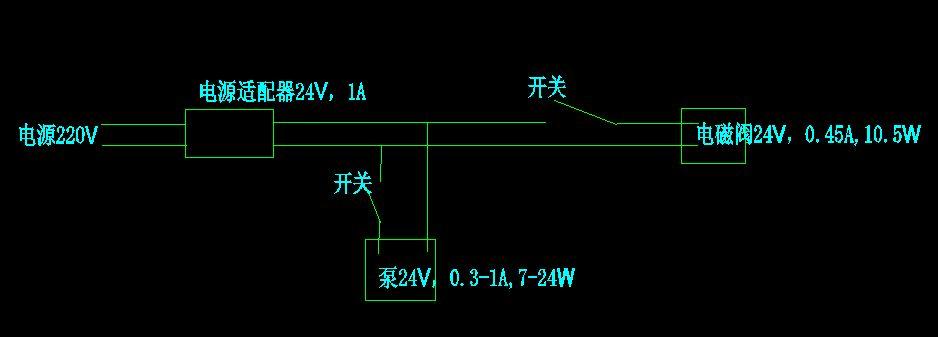 请教电磁阀与水泵的电路问题图片