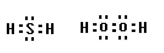 氧族元素中含有18个电子的两种氢化物的电子式图片