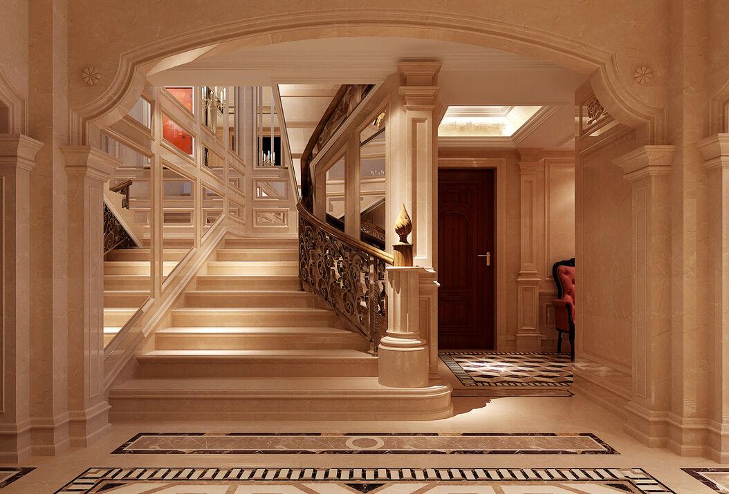 別墅疊拼一樓至二樓樓梯處如何裝飾