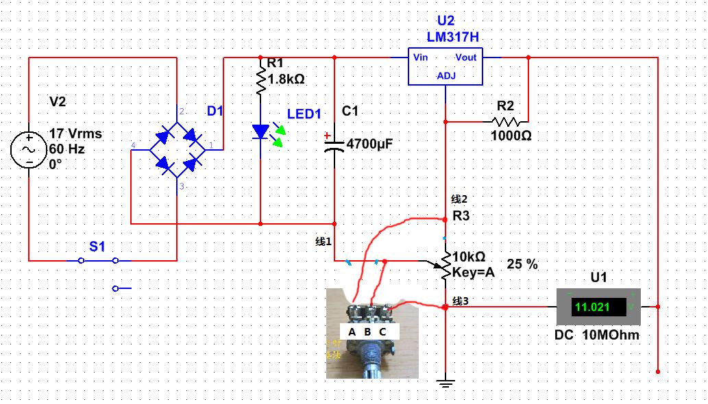 电路图的电位器连接是对的吗?