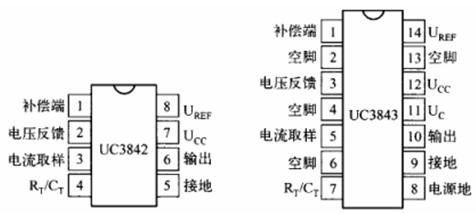 uc3843bn各引脚功能及外围电路有哪些?