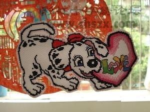 寻找十字绣图纸,斑点狗,嘴上有个LOVE的心,有图纸挡墙排水沟砌石图片