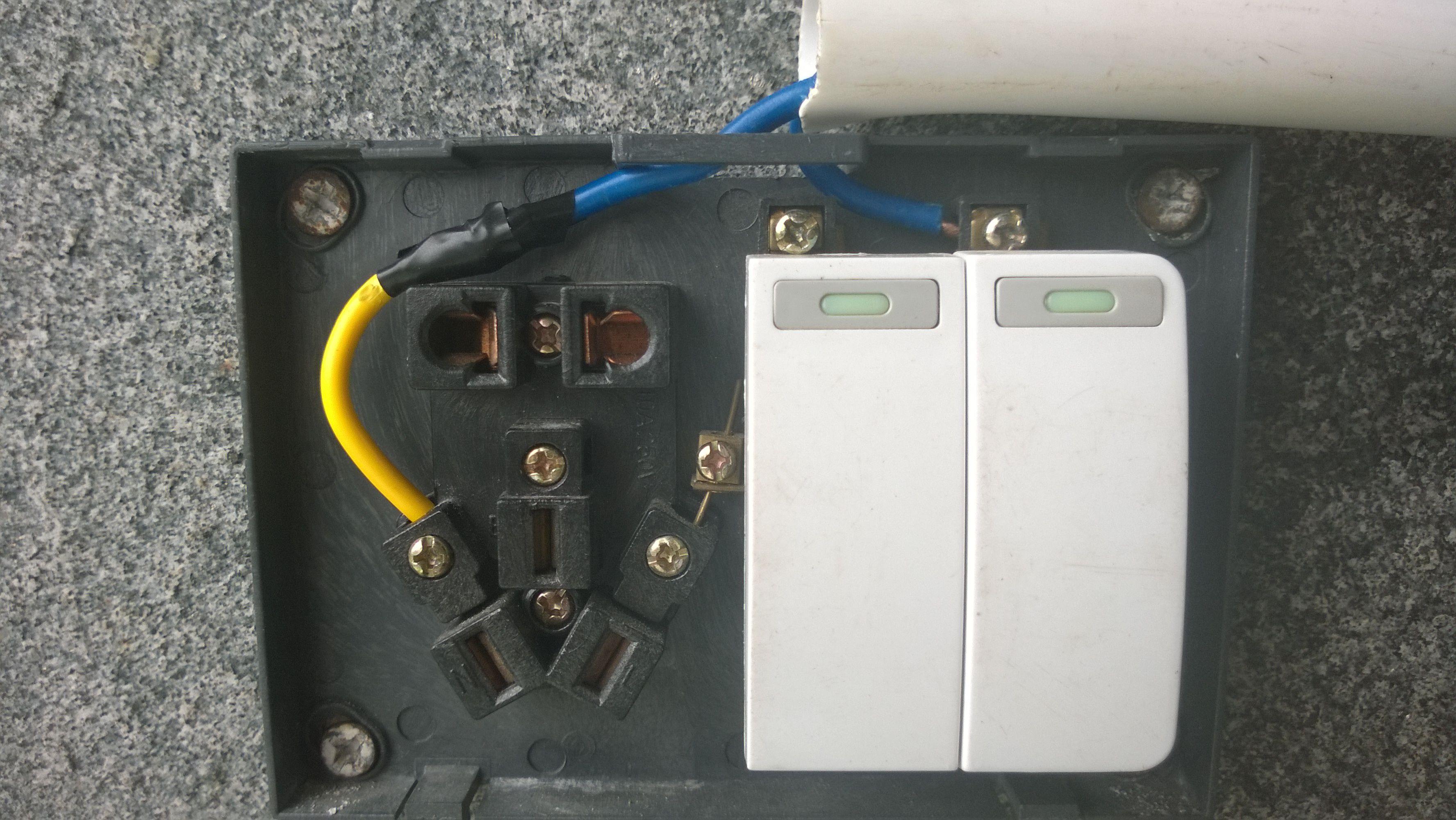 求助电工,排插座接线图