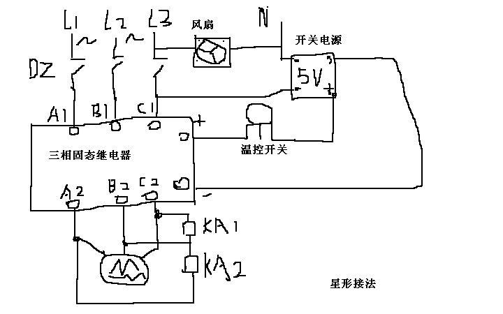 三相固态继电器有一组烧坏了,另外两组还能工作.