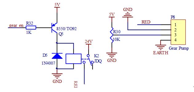 pcb原理图,这是一个利用电位器和继电器控制齿轮泵的模块,我想问问图