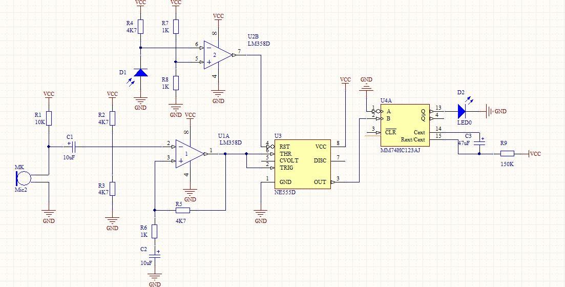 声控灯电路如下,请分析下过程,这个图能实现声控灯吗?