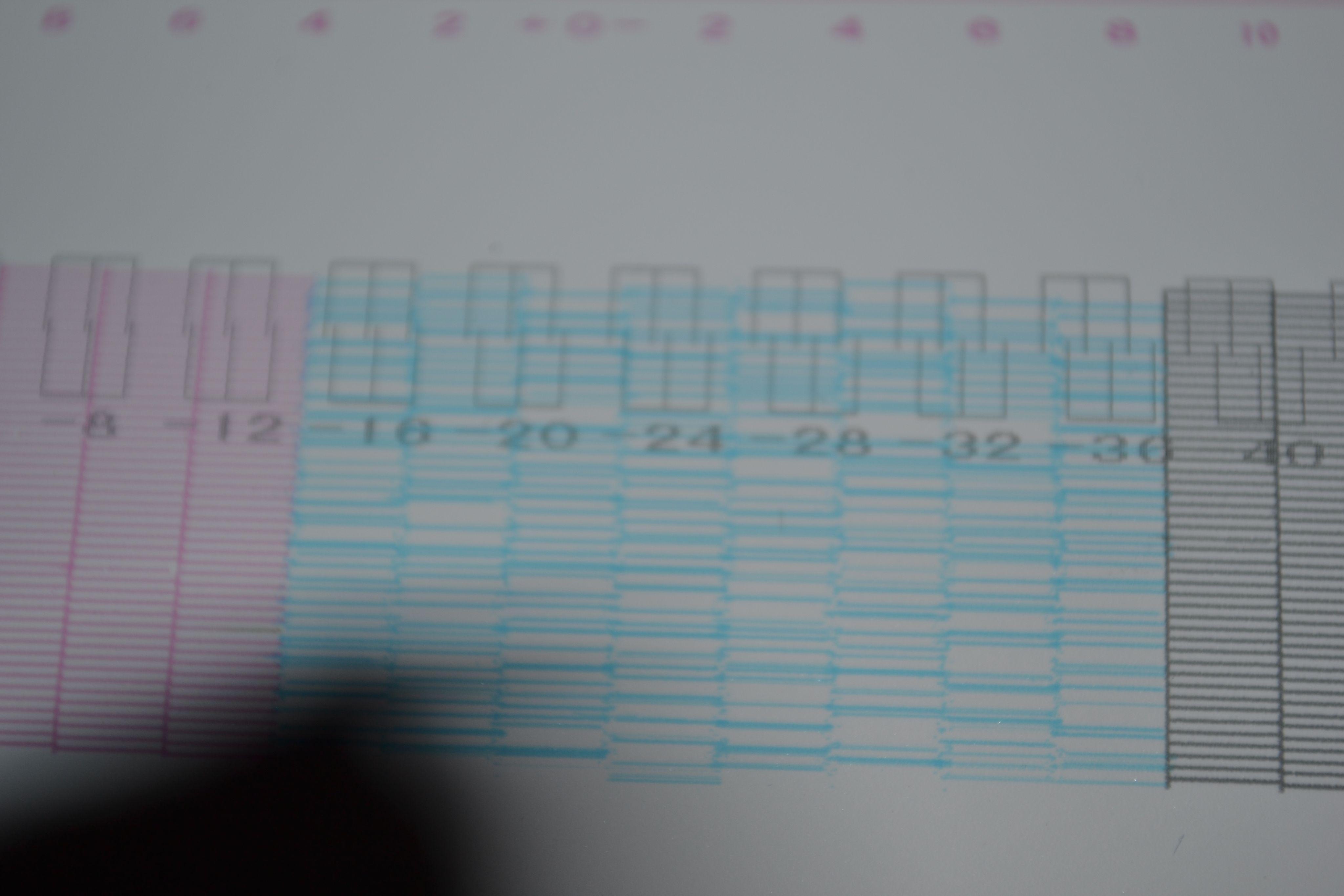 天彩户内写真机压电5代喷头检测时蓝色线条时乱是怎么