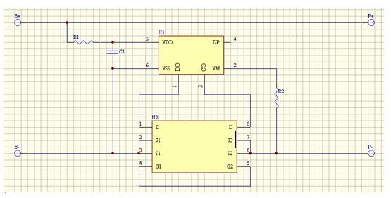 18650 单节电池充放电保护电路原理图啊