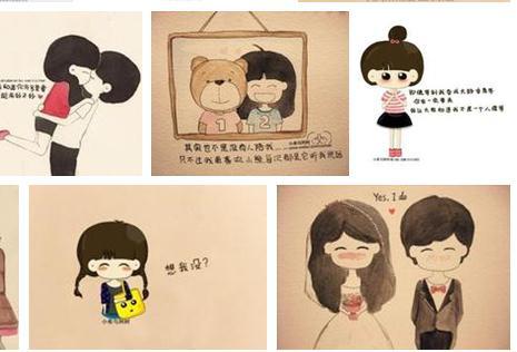 """""""小希与阿树""""手绘画系列,画面温暖,文字凄美,时而有疯狂的快乐,时而"""