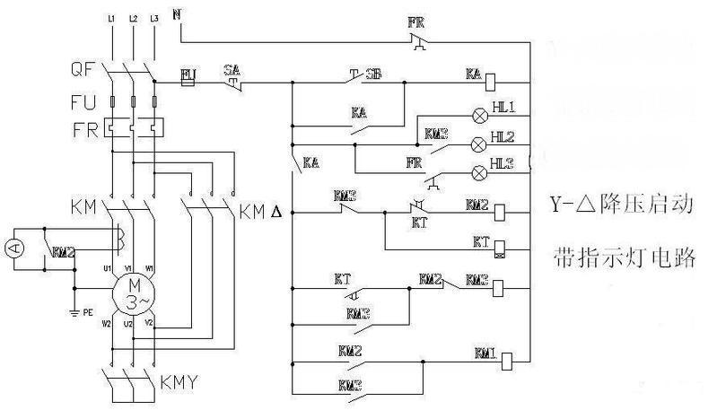 两个开关一个时间继电器三个交流接触器怎样接线实物图图片