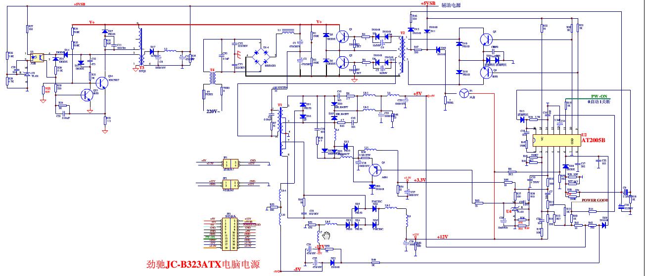 各位师父谁有2005b芯片电脑电源电路图