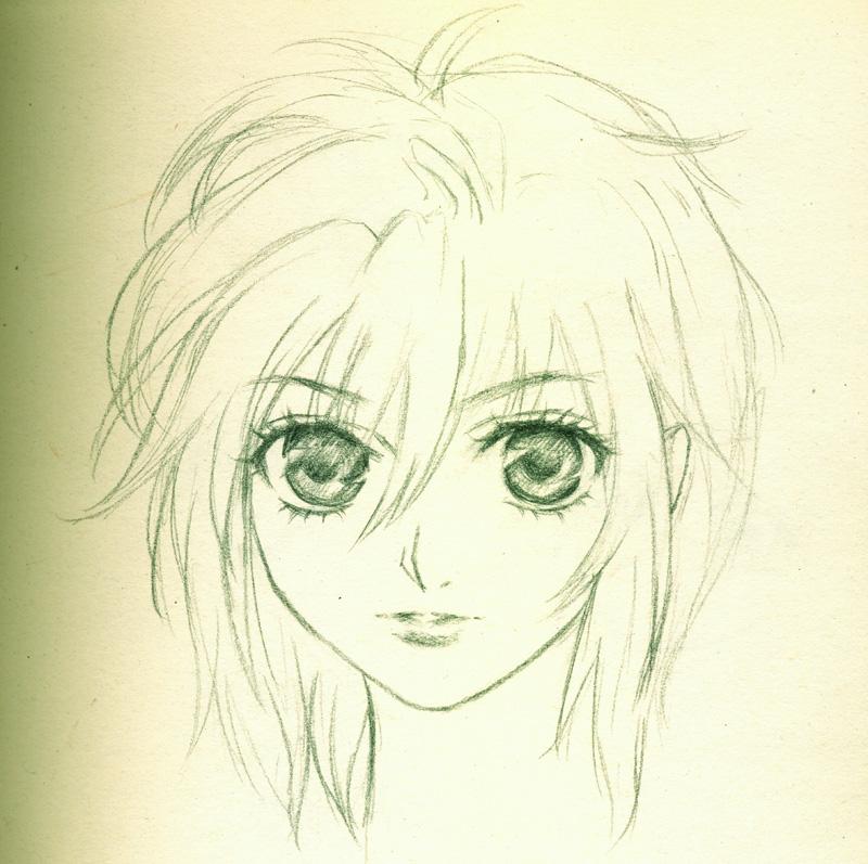 求几张唯美人物的铅笔画
