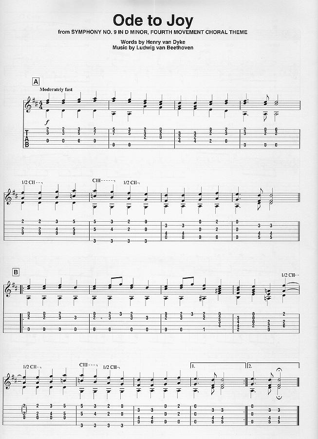 吉他谱《欢乐颂》图片