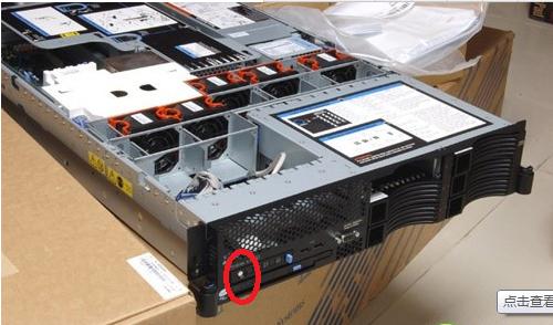 ibm system x3650服务器 电源开关在哪里